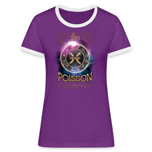 POISSONS - T-shirt contrasté Femme