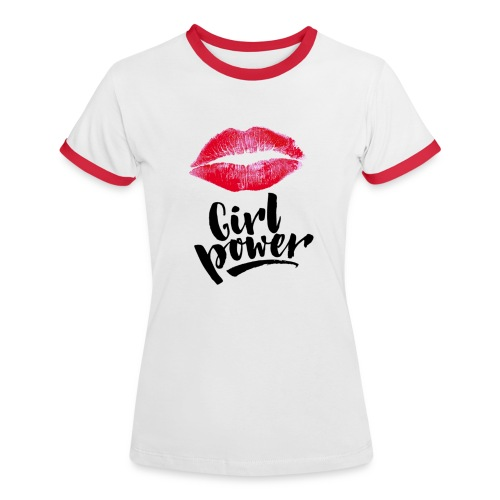 Girl Power - T-shirt contrasté Femme