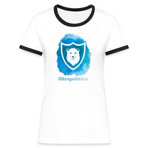 Baerspektivo inkl. Schriftzug in Blau Aquarell - Frauen Kontrast-T-Shirt