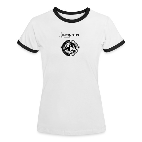 Infinitus stamp schwarz png - Frauen Kontrast-T-Shirt