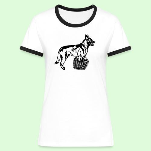 Berger Belge Malinois, la garde d'objet - T-shirt contrasté Femme