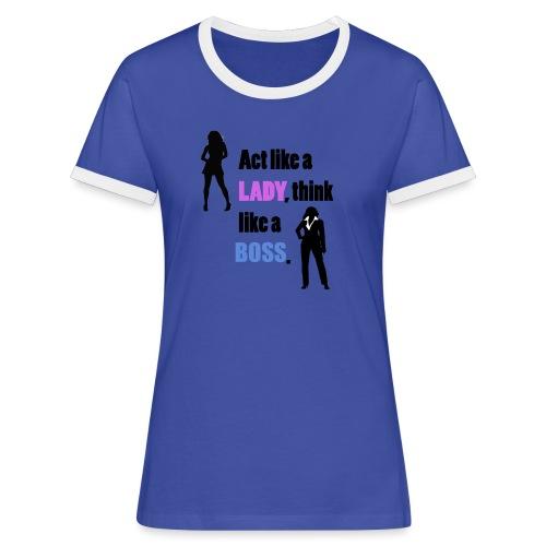 Women get success - Frauen Kontrast-T-Shirt