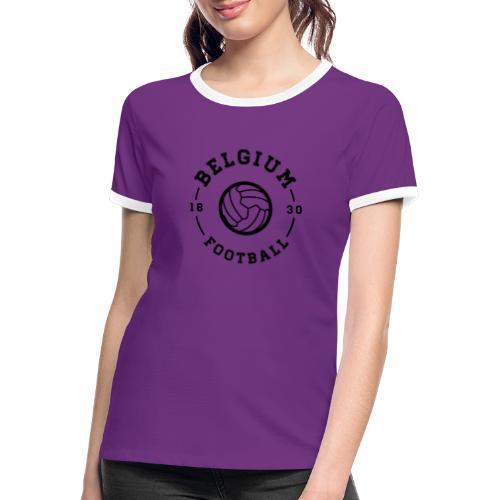 Belgium football - Belgique - Belgie - T-shirt contrasté Femme