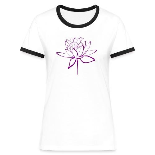 Lotus - T-shirt contrasté Femme
