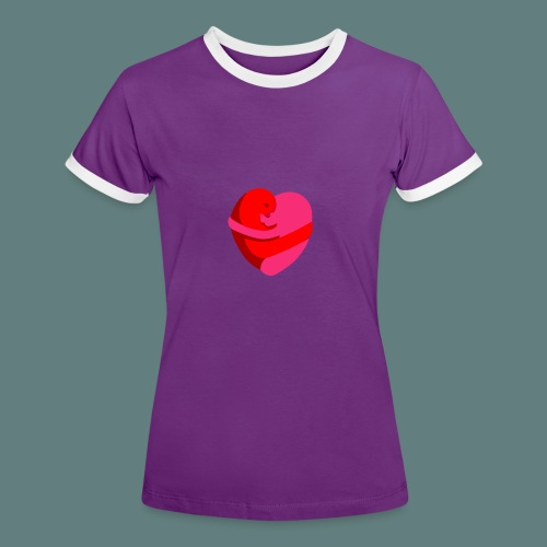 hearts hug - Maglietta Contrast da donna