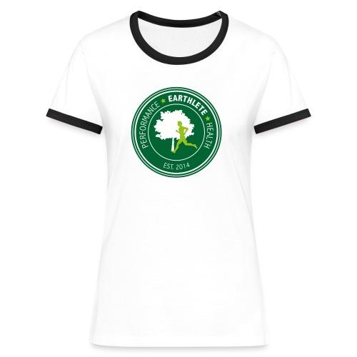 EARTHLETE Brand Logo - Dame kontrast-T-shirt