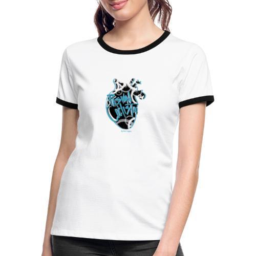 PASIÓN CICLISTA - Camiseta contraste mujer