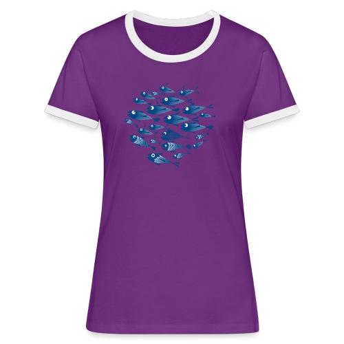 Banco di pesci / Banco del pesce - Maglietta Contrast da donna