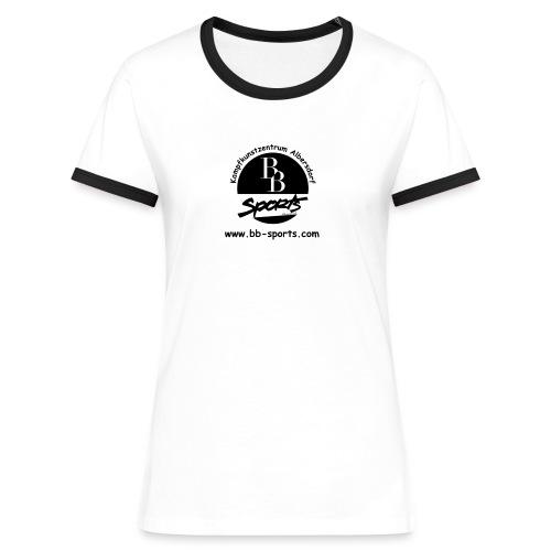BB Sports Logo neu einfach 2 - Frauen Kontrast-T-Shirt