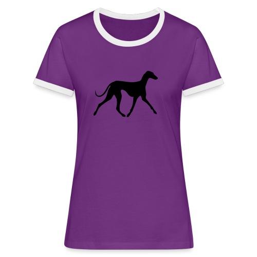 Azawakh - Frauen Kontrast-T-Shirt