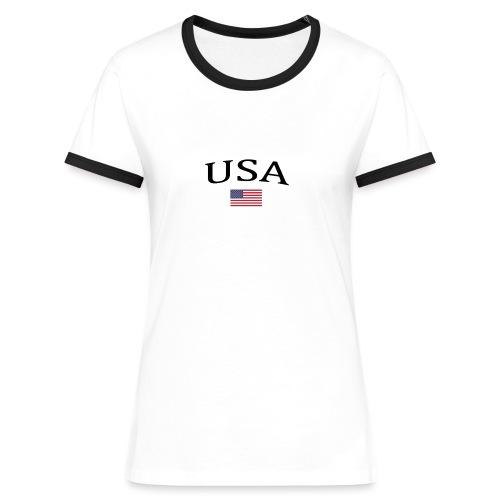 USA, America, Usamade, Trinidad, Laconte, American - Women's Ringer T-Shirt