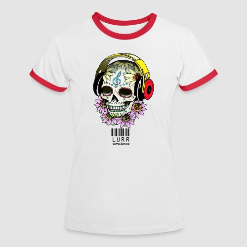 smiling_skull - Women's Ringer T-Shirt
