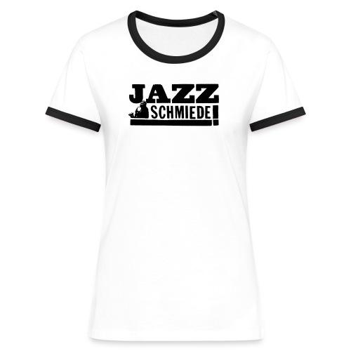 jazzschmiede logo klein - Frauen Kontrast-T-Shirt