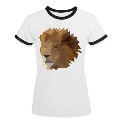 Löwe - Frauen Kontrast-T-Shirt