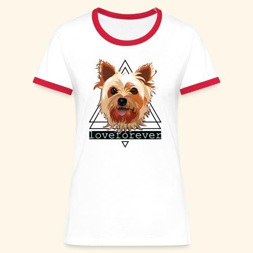 YORKIE LOVE FOREVER - Camiseta contraste mujer