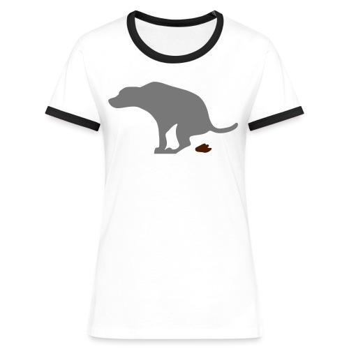 Hund - Frauen Kontrast-T-Shirt