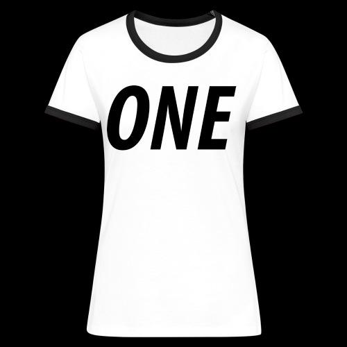 WEAREONE x LETTERS - Vrouwen contrastshirt