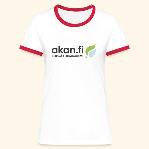Akan Black - Kontrast-T-shirt dam