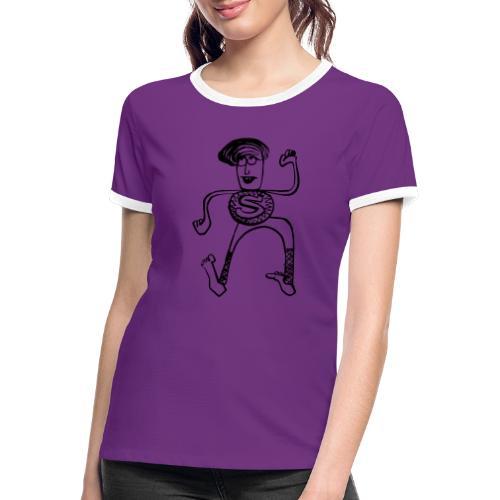 Super Pino - Maglietta Contrast da donna