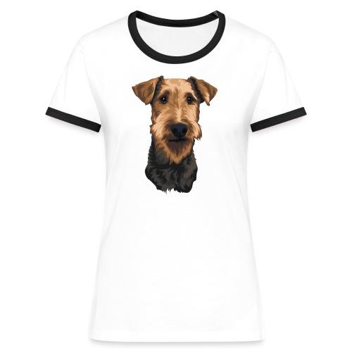 JUNO Airedale Terrier - Women's Ringer T-Shirt