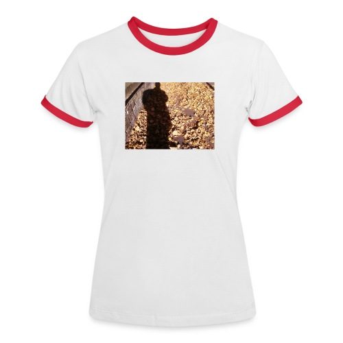 THE GREEN MAN IS MADE OF AUTUMN LEAVES - Women's Ringer T-Shirt