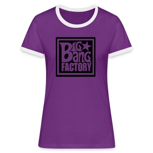 LOGOSTARBLACKBIGPNG png - T-shirt contrasté Femme