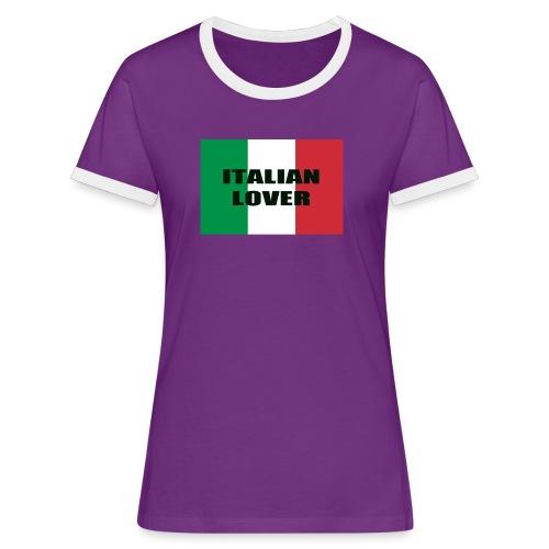 ITALIAN LOVER - Maglietta Contrast da donna