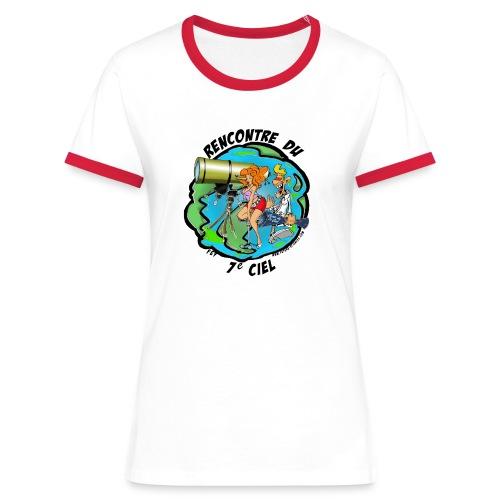 7ciel texte noir - T-shirt contrasté Femme