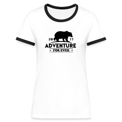 ADVENTURE FOR EVER - GRIZZLY - Maglietta Contrast da donna