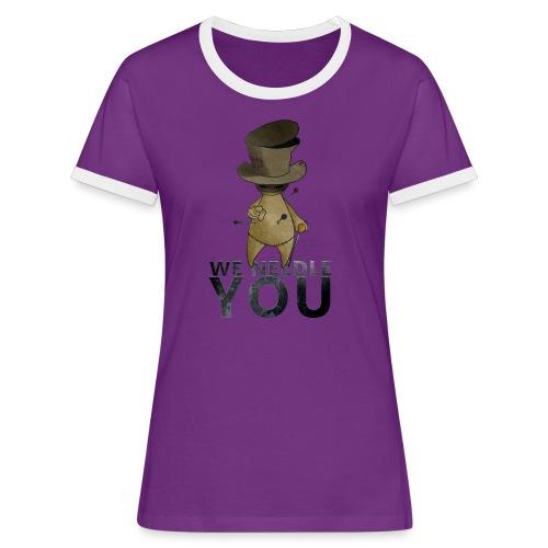 WE NEEDLE YOU - T-shirt contrasté Femme