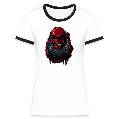 Red Skull in Chains - Women's Ringer T-Shirt