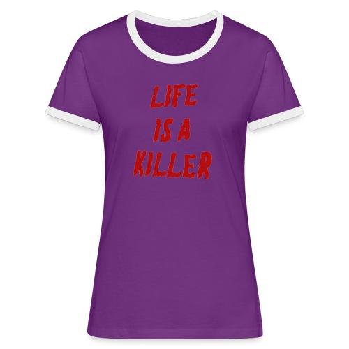 LIAK - Frauen Kontrast-T-Shirt