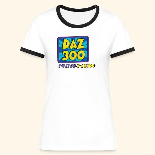 daz logo 2 0 - Women's Ringer T-Shirt