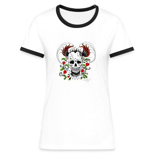 Totenkopf2 - Frauen Kontrast-T-Shirt