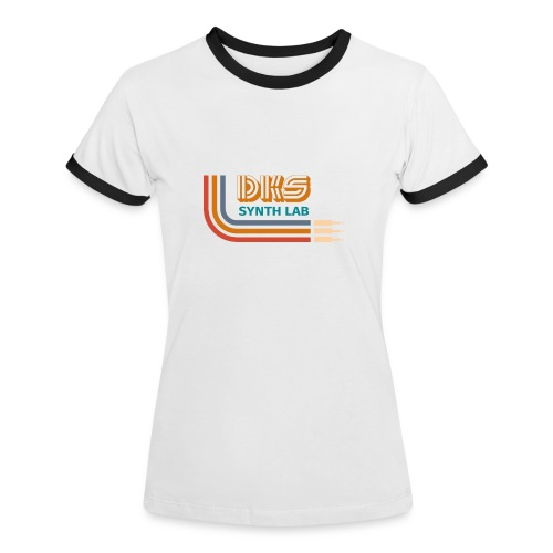DKS SYNTH LAB curved Orange - Maglietta Contrast da donna