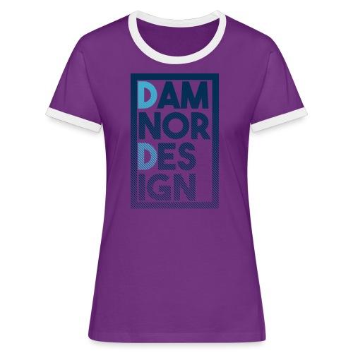 Damnor design (H) - T-shirt contrasté Femme