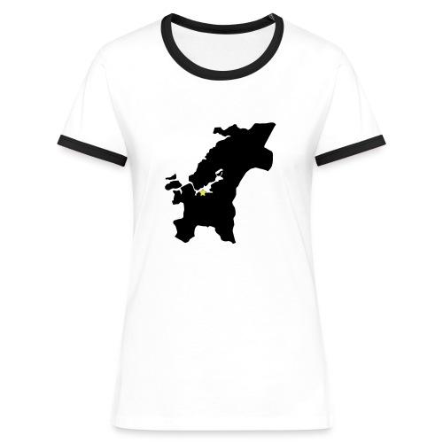 trndelag m stjerne - Kontrast-T-skjorte for kvinner