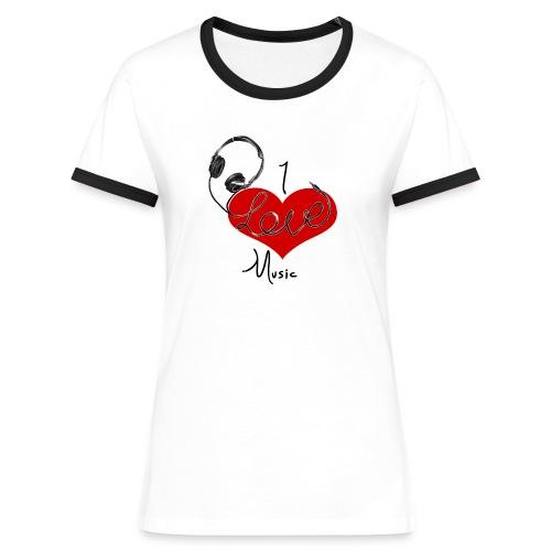 I Love Music - Women's Ringer T-Shirt