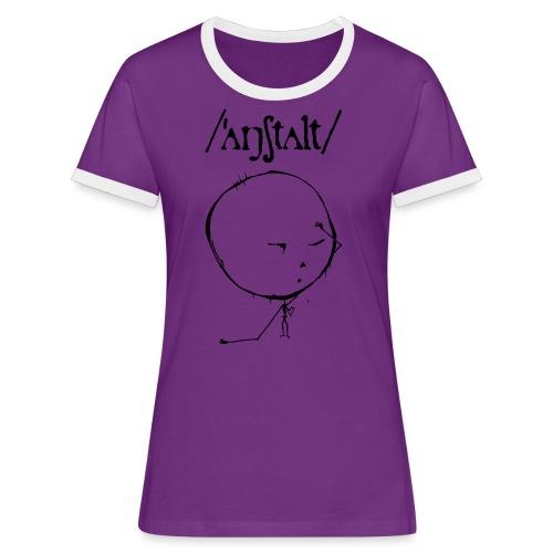 logo mit kreisling - Frauen Kontrast-T-Shirt