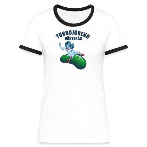 tshirtsolo1 - Kontrast-T-shirt dam
