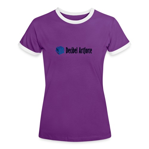 Decibel Artforce Logo (transparent) - Frauen Kontrast-T-Shirt