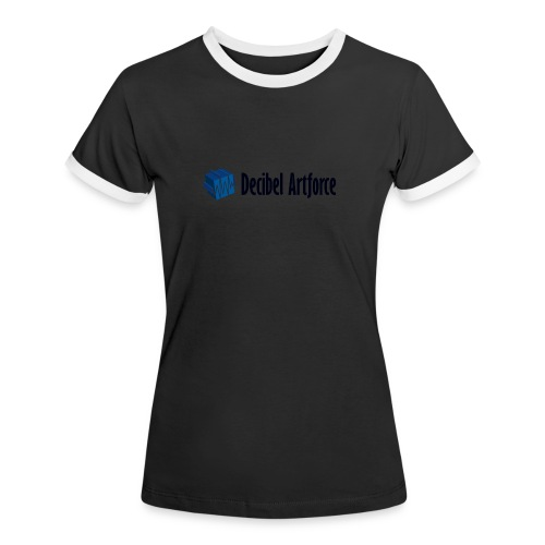 Decibel Artforce Logo (transparent) - Frauen Kontrast-T-Shirt