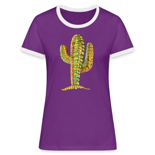 Le cactus - T-shirt contrasté Femme