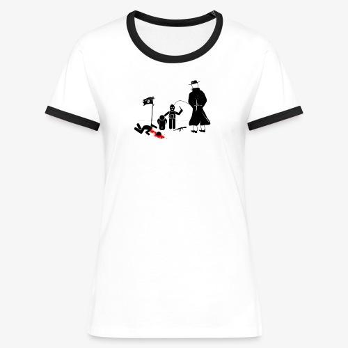 Pissing Man against terrorism - Frauen Kontrast-T-Shirt