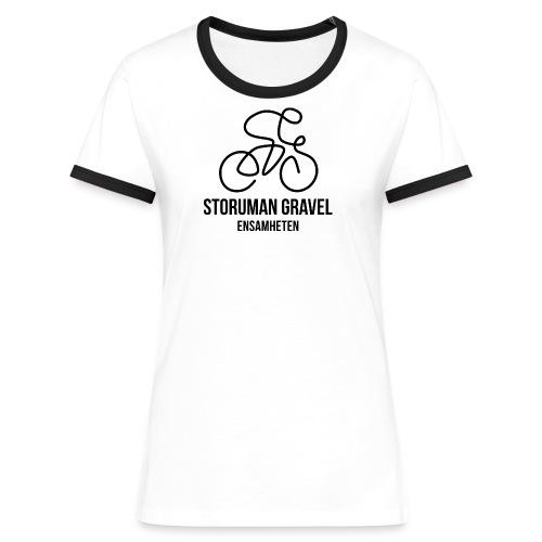 Storuman Gravel / Svart - Kontrast-T-shirt dam