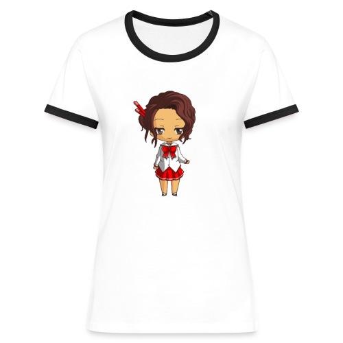 Chibi Amelia by Calyss - T-shirt contrasté Femme