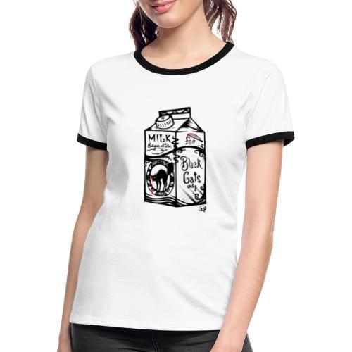 Il Latte di Edgar Allan Poe! - Maglietta Contrast da donna