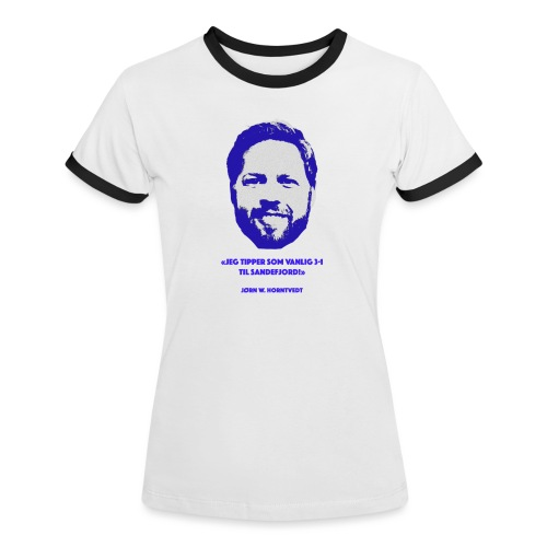 Horntvedt - Kontrast-T-skjorte for kvinner