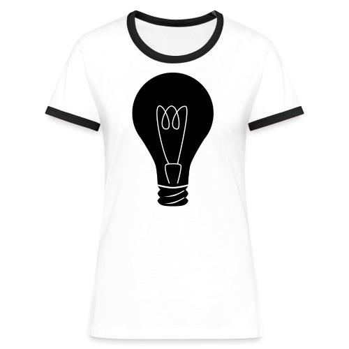 Glühbirne - Frauen Kontrast-T-Shirt