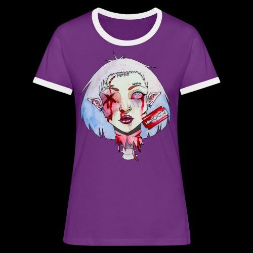 Violence - T-shirt contrasté Femme